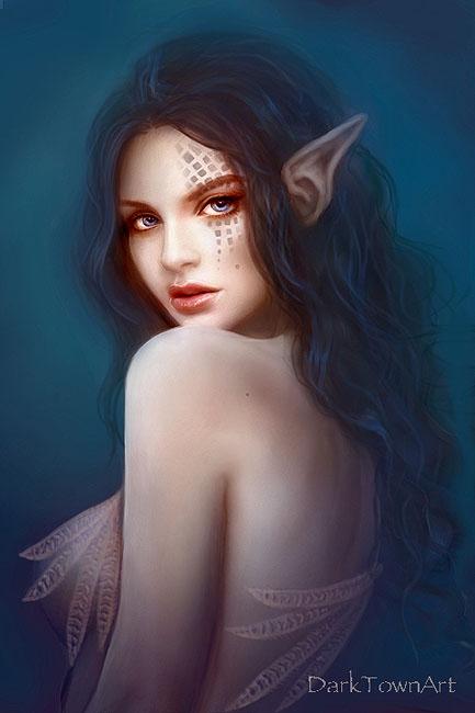 Beautiful Skin Fairy by DarkTownArt