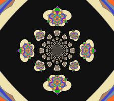Stain-Glass (warped pattern)