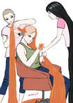 Shaving Chandra's precious hair