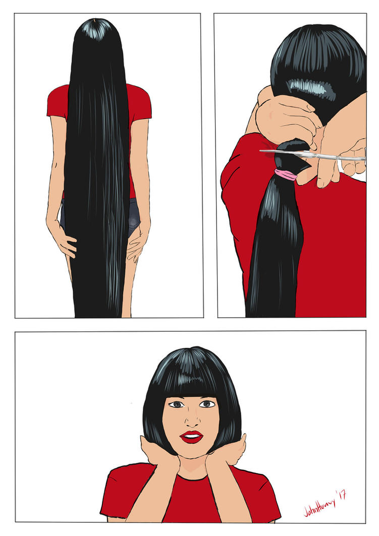 Ayus First Short Haircut By Johnheavy On Deviantart