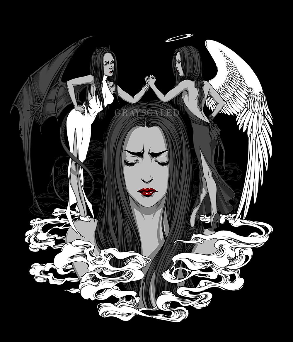 Good Vs Evil by GRAYSCALED on DeviantArt