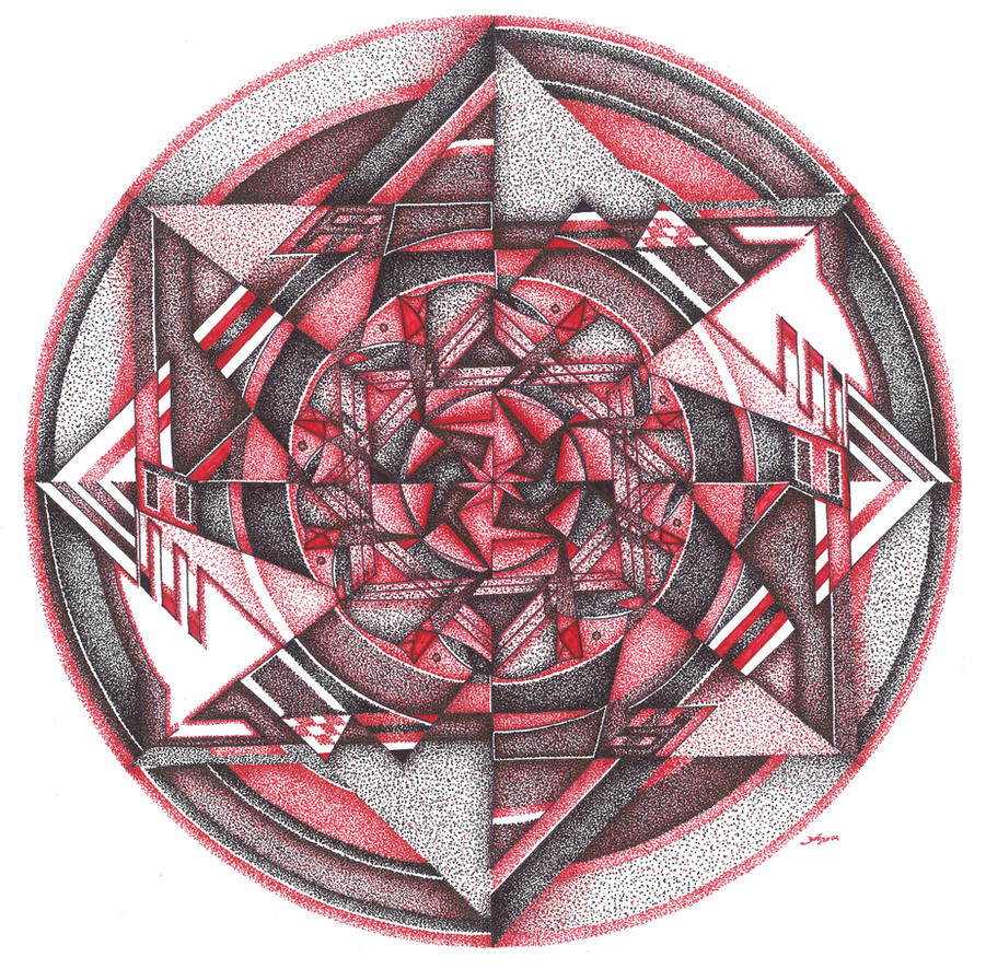 Geodotmetrical Mandala by meathive
