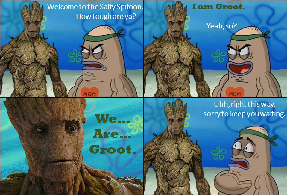 Groot goes to the Salty Spitoon- I Am Groot! by Dinodavid8rb