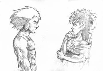 Battle of the hairdos by JesusIsMyHomie