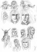 Jareth sketches by JesusIsMyHomie