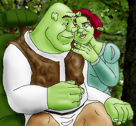 Shrek and Fiona by JesusIsMyHomie