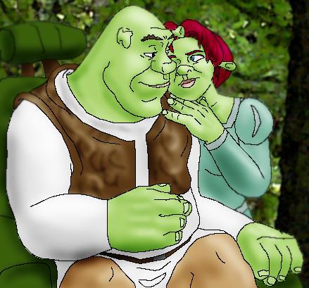 Shrek and Fiona by JesusIsMyHomie