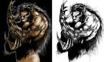 Colored werewolf
