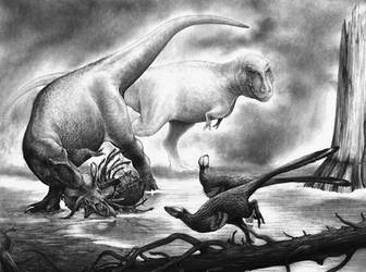 Tyrannosaurus by Lythroversor