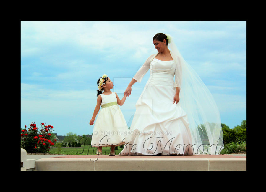 Flower Girl and Bride by Michon