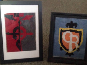 FMA cross stitch redo and OHHC cross stitch. by speedy2katv2