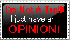 Opinion Stamp by Mesklinite01