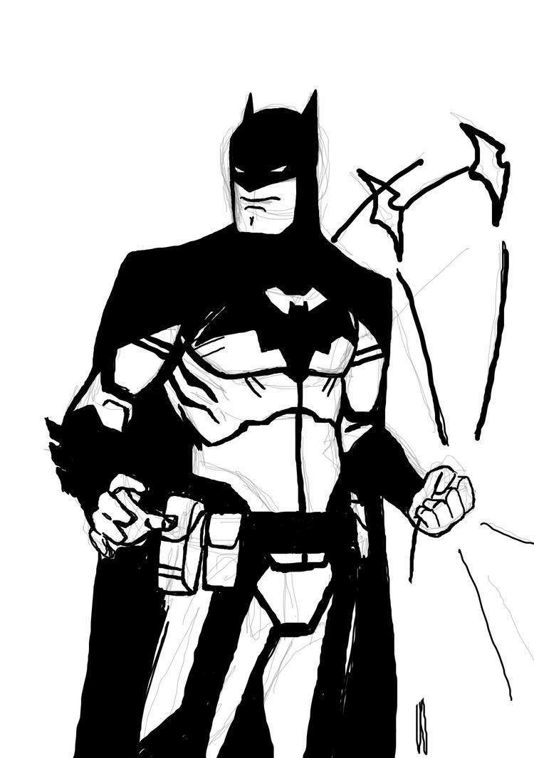 Dark Knight Doodle by DeadpoolsKatana