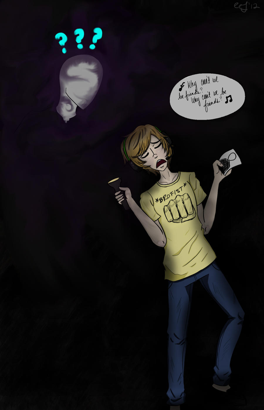 PEWDIEPIE AND SLENDERMAN by BunnyRinX3 on DeviantArt
