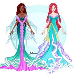 Little Mermaid: redesign by Jelliemia