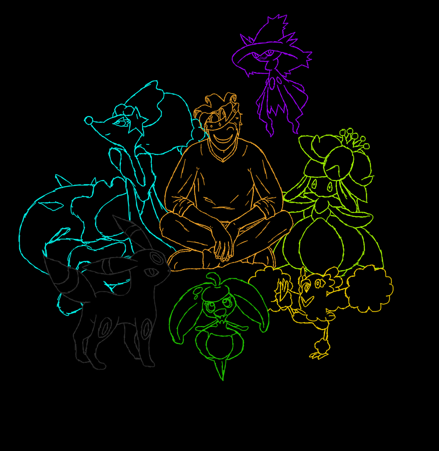 My Alolan Team by Gold-en-Fool