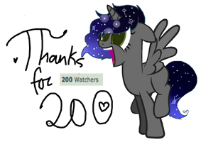 Thaaanks For 200!!!~ by M-elodySketches