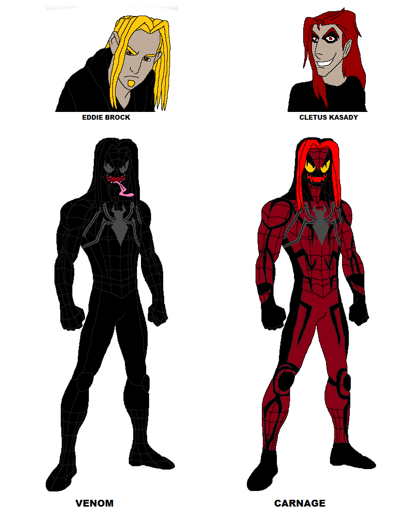 My design for Venom and Carnage by SUP-FAN on DeviantArt