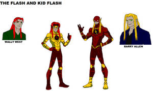 My design for The Flash and Kid Flash