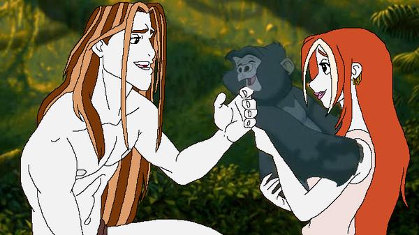 Human Thomas Disney: Jane stays with Tarzan by SUP-FAN
