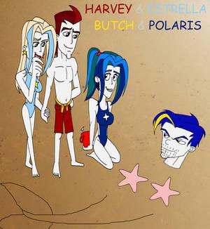 Harvey and Estrella and Butch and Polaris