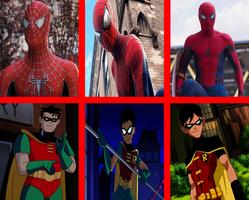 Robin: BTAS TT and YJ as Spider-man: TM AG TH