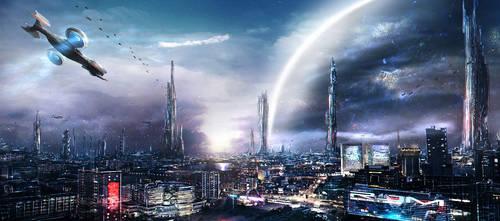 Sci Fi City by InFiNxTi
