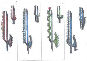 Elemental Blades by herox77
