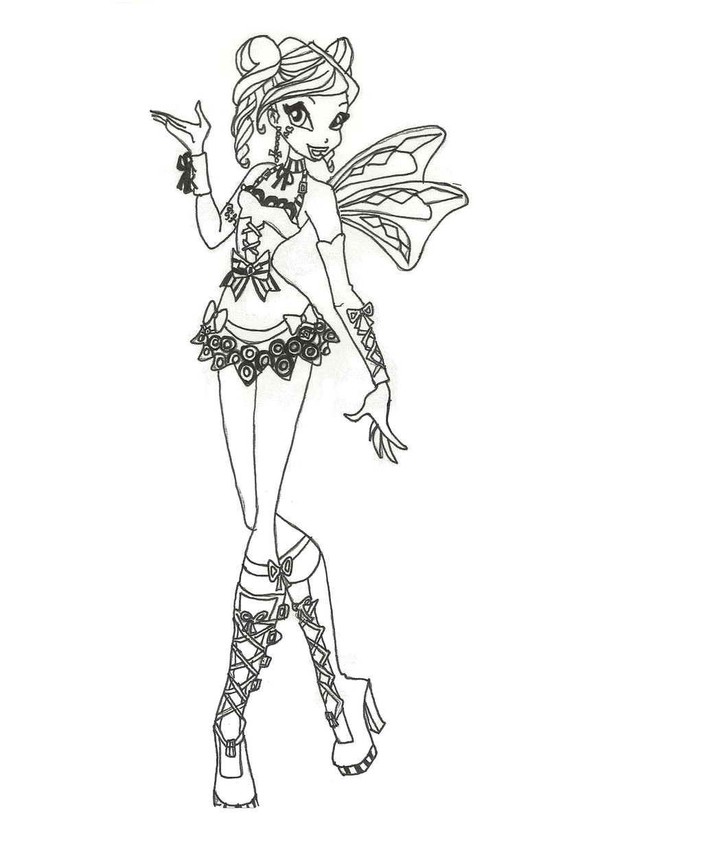 Coloring Pages Le Bloom : Hallowinx bloom coloring page by timefairy on deviantart