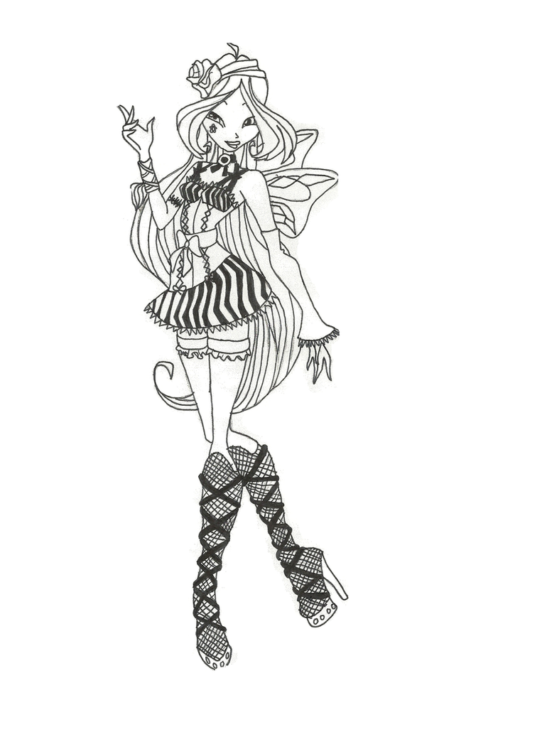 Winx Club Hallowinx Flora coloring page by timefairy237 on DeviantArt