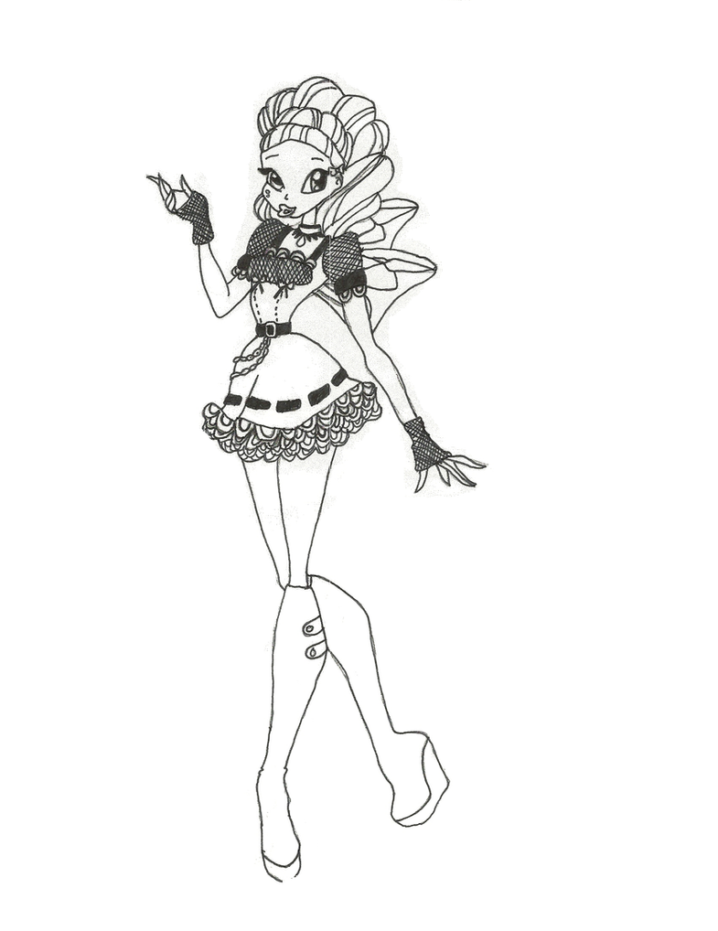 Winx Club Hallowinx Layla Coloring Page By Timefairy237 On