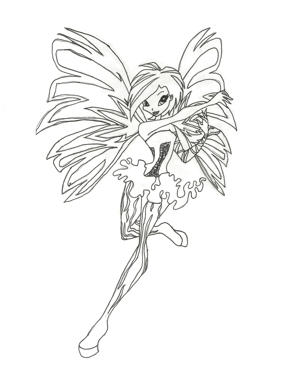 winx club sirenix tecna coloring page by timefairy237 on deviantart