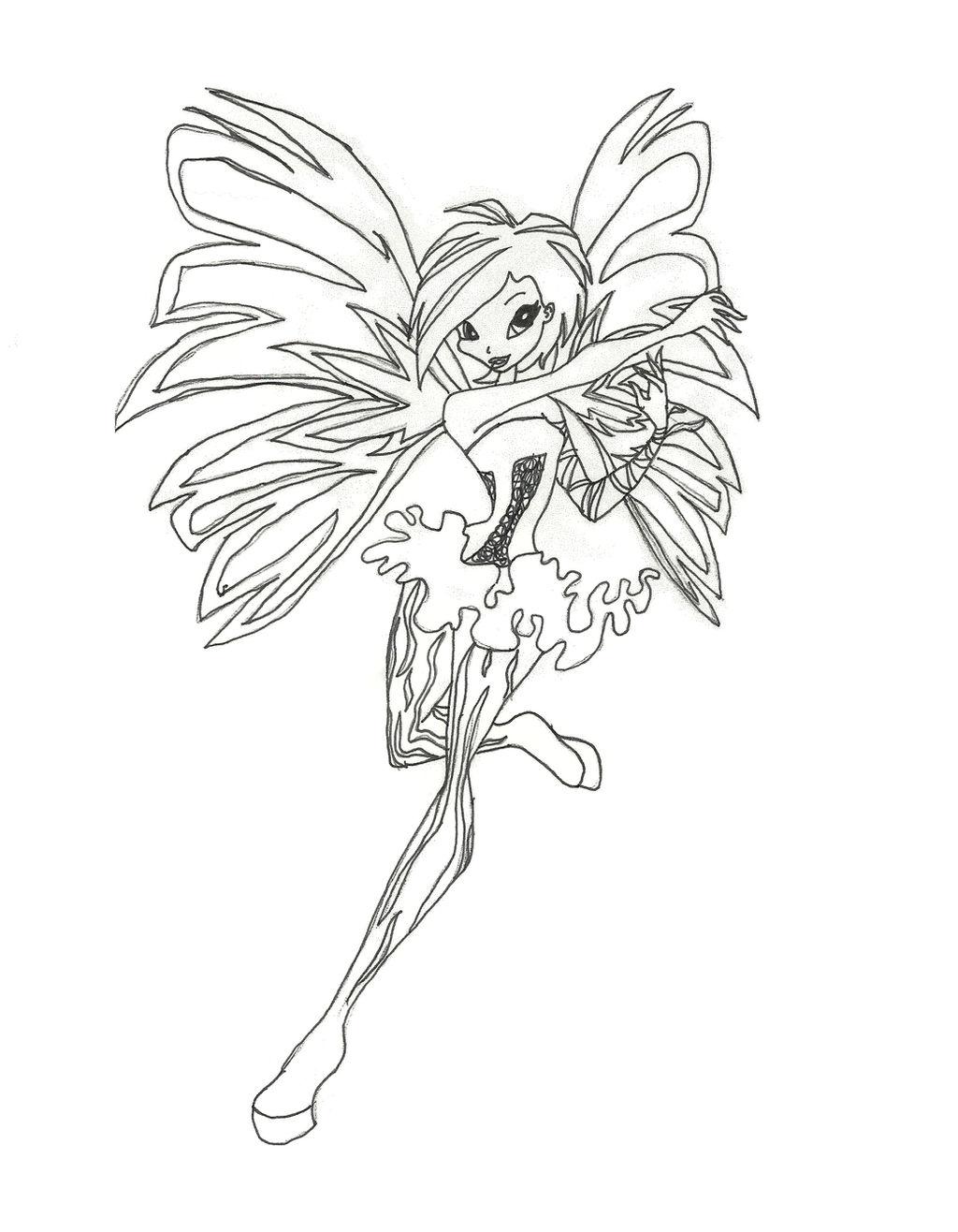 Winx Club Sirenix Tecna Coloring Page By Timefairy237 On Deviantart