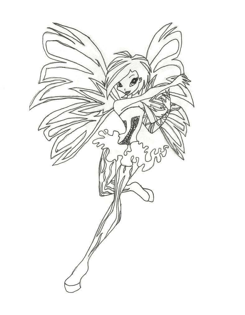 Winx Club Sirenix Tecna coloring page by timefairy237