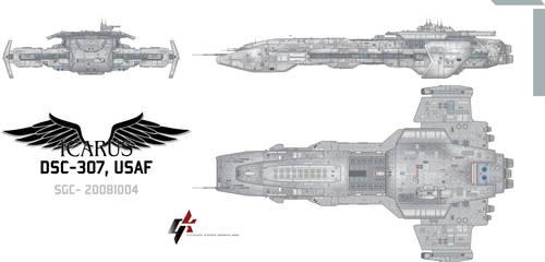 Icarus Class Battlecruiser by Galen82