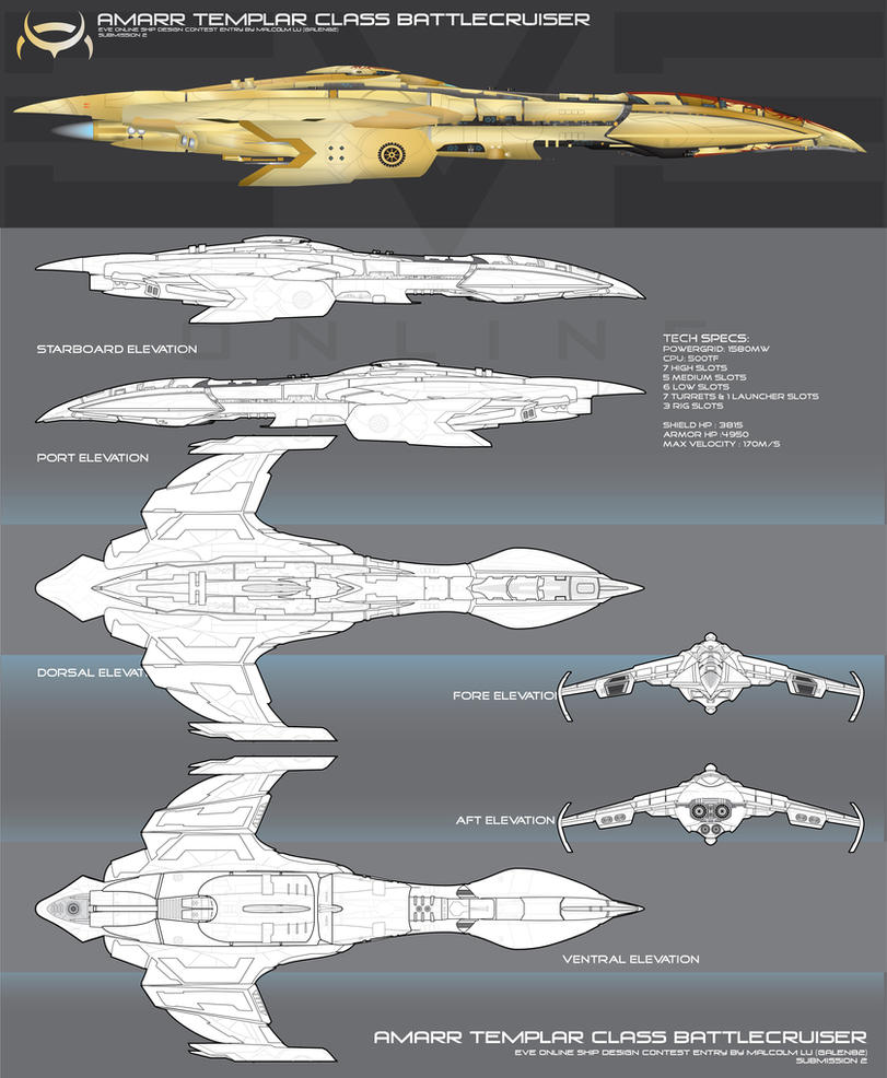 Templar Class Battlecruiser by Galen82