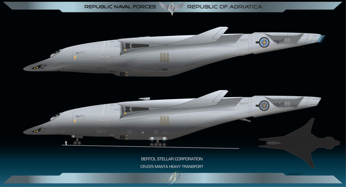Republic Manta Heavy Transport by Galen82