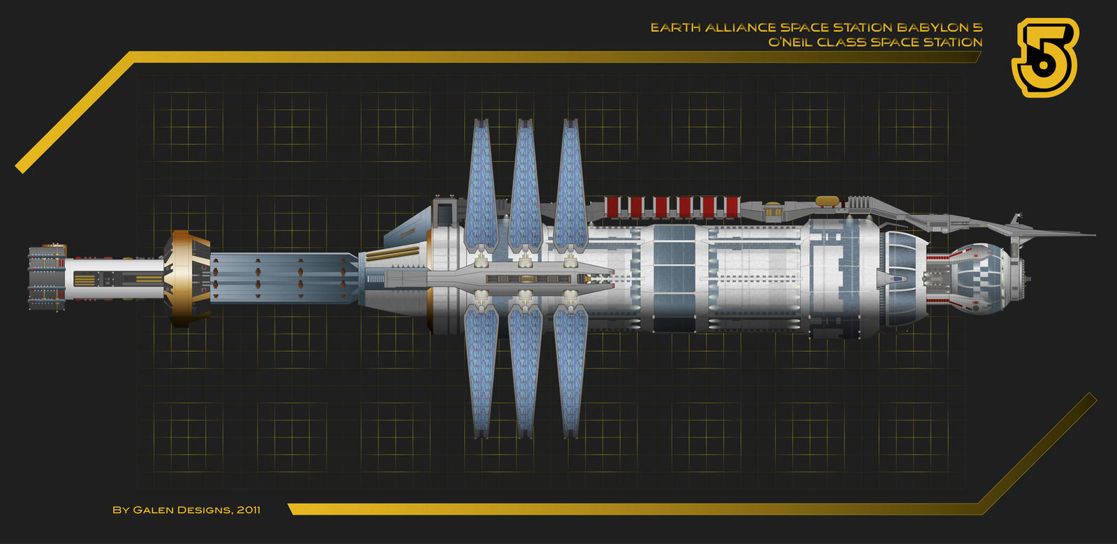Babylon 5 Side Profile by Galen82