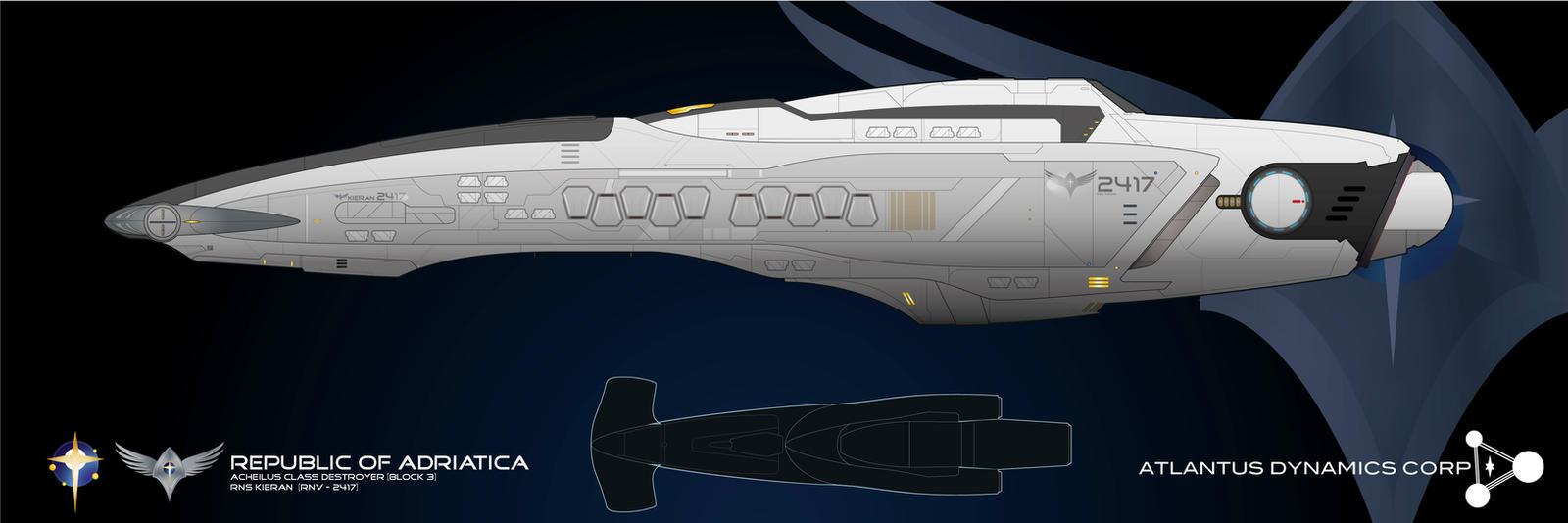 Acheilus Block III Destroyer by Galen82