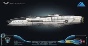 CoM 3.0 Republic Tridamos Class Fleet Cruiser by Galen82