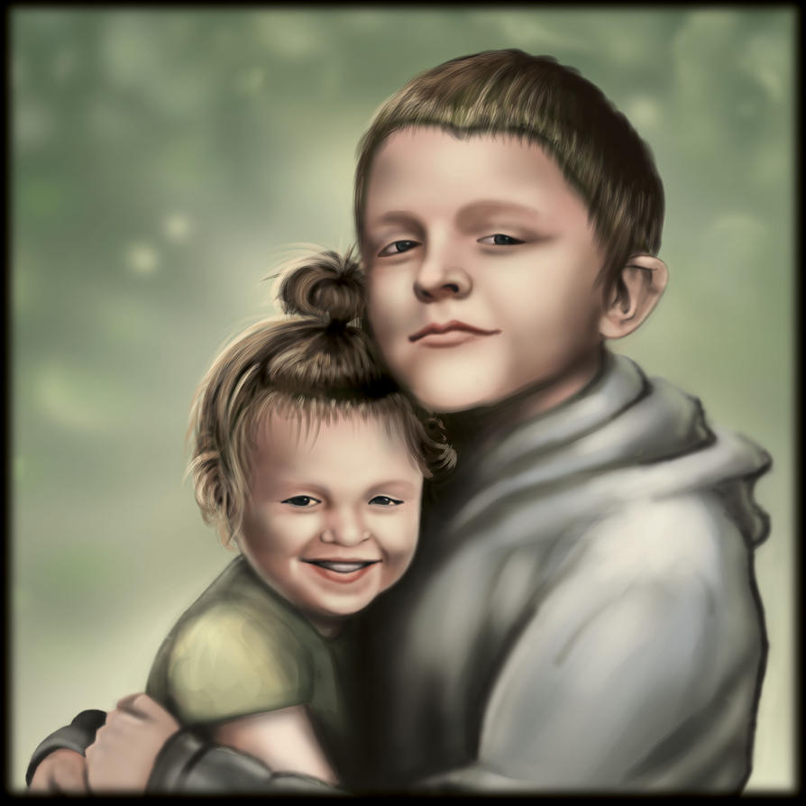 Siblings by BIBALArt