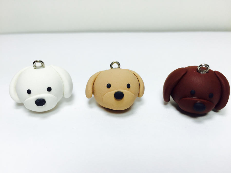 Image of: Dry Clay Dog Charm Polymer Clay Animals Puppy Charm By Exeriox We Heart It Pictures Of Animal Clay Charms rockcafe