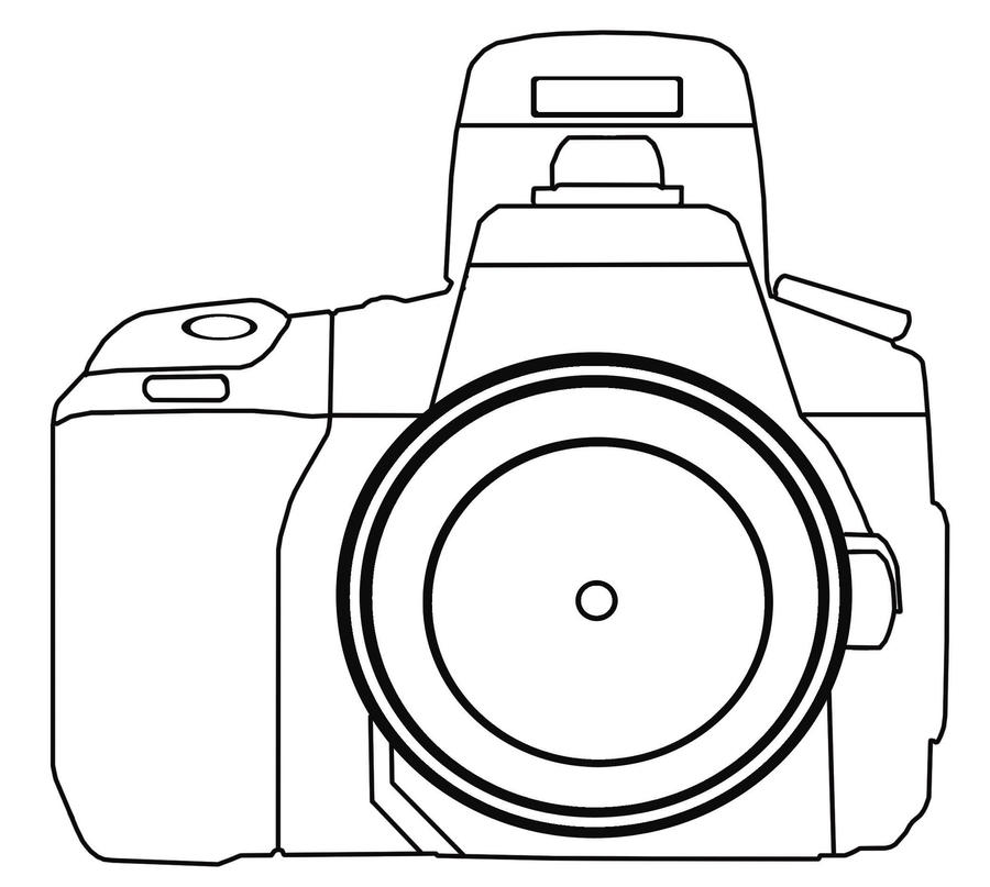 how to draw a dslr