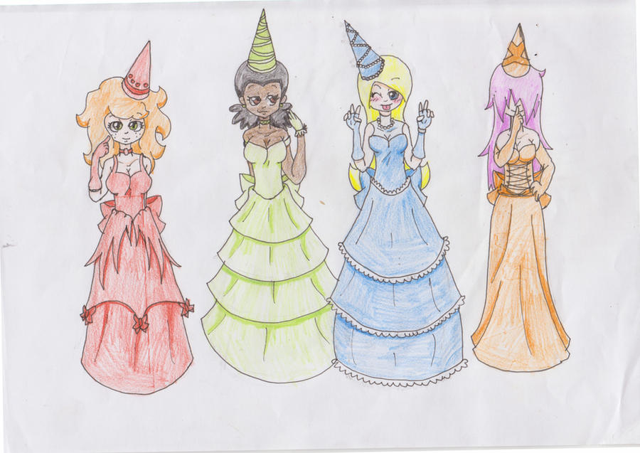 Castle crashers 4 princesses by zombielover94 on deviantart - Castle crashers anime ...