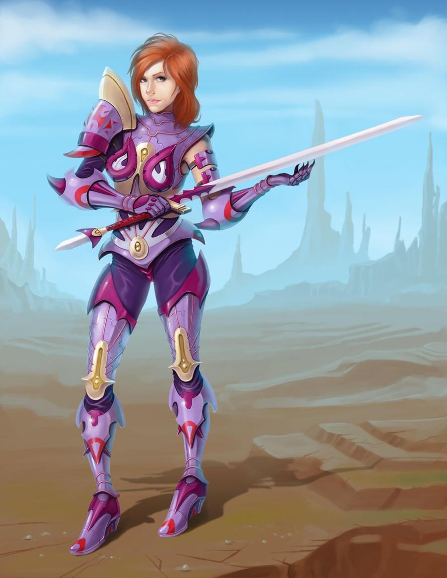 FEZ: Female Warrior by arm01