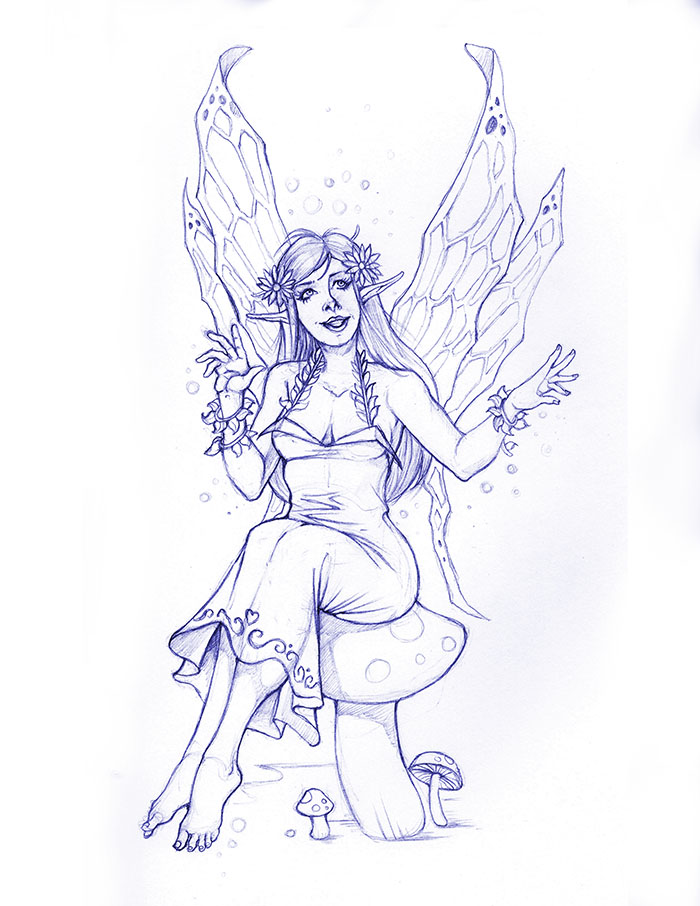 Pencil Fairy by arm01