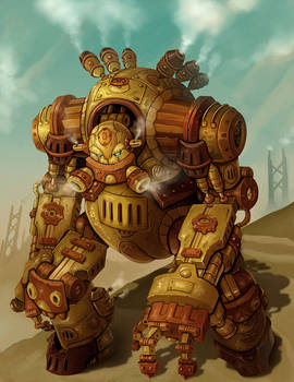 Steampunk Robot Warrior - Groxx