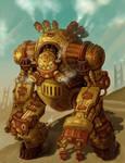 Steampunk Robot Warrior - Groxx