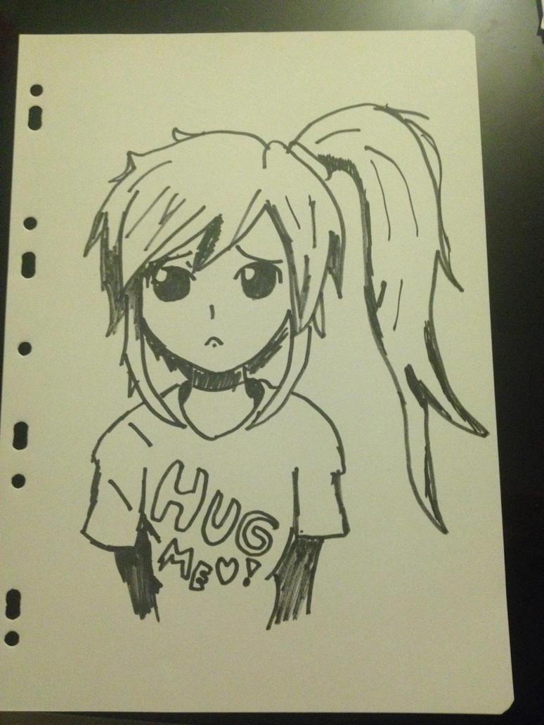 Sad girl by LinkyBrutus