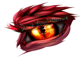 Paint Dump #6 Enraged Dragon Eyes by Divine-Angel-Heroine